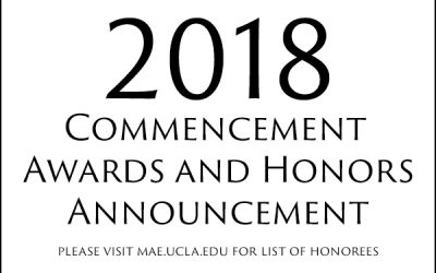 2018 Commencement Awards and Honors Announcement