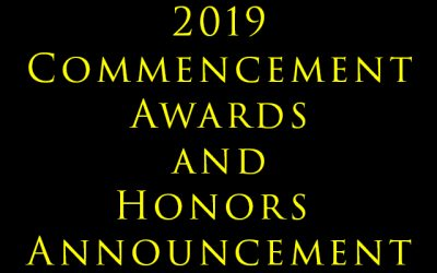2019 Commencement Awards and Honors Announcement