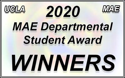 2020 MAE Departmental Student Awards Winners!