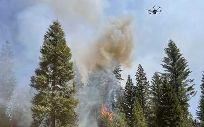 MAE Ph.D. student Kevin Schwarm uses drone sensing in prescribed burns to prevent wildfires