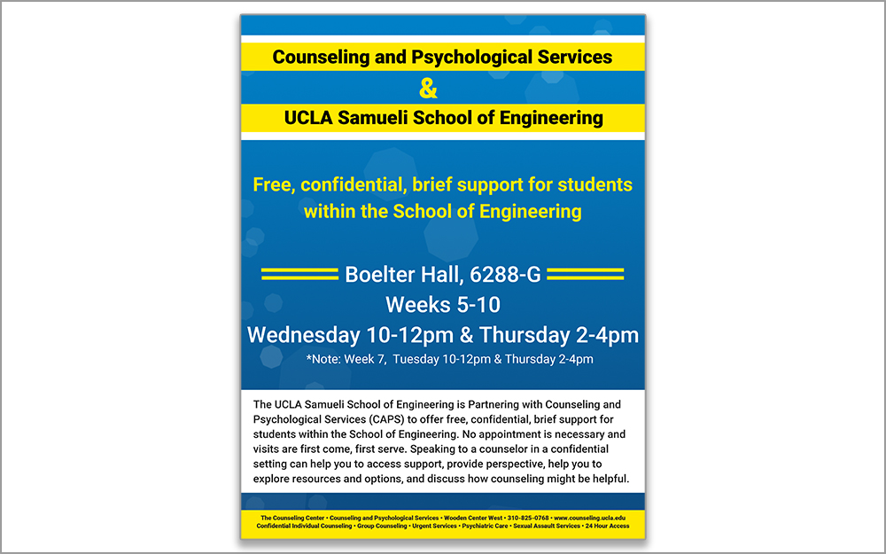 Free, confidential, brief support for students within the School of Engineering