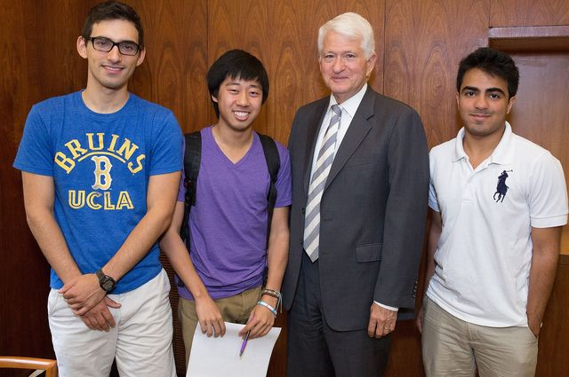 ME senior Adam Garcia and other students team up with Chancellor Block to create an app