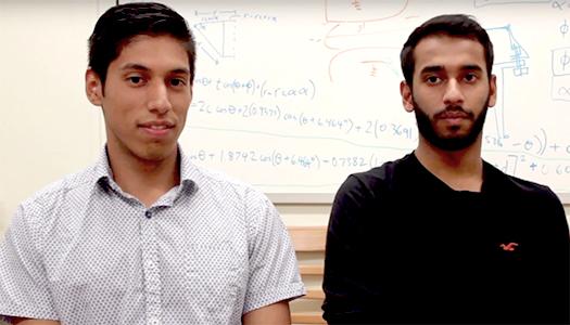 MAE students Anthony Gildemeister, Reuben Rozario help create NASA satellite