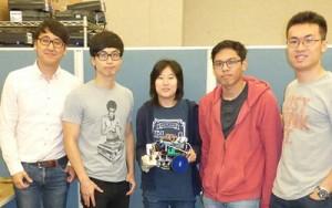 First place: Team 13 (15 balls) Athena Huang, Daekyum Kim, Mel Kevin Siazon, Fangcheng Zhu and Hochang Lee