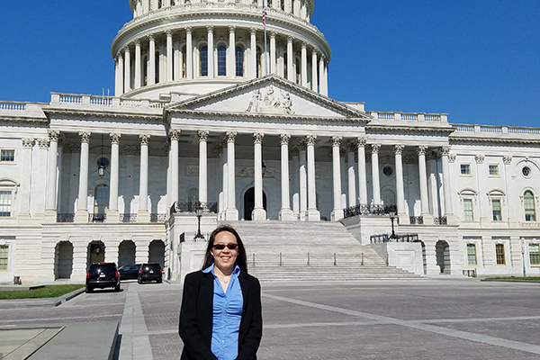 Veronica Santos meets with US Congress members to advocate for NSF funding