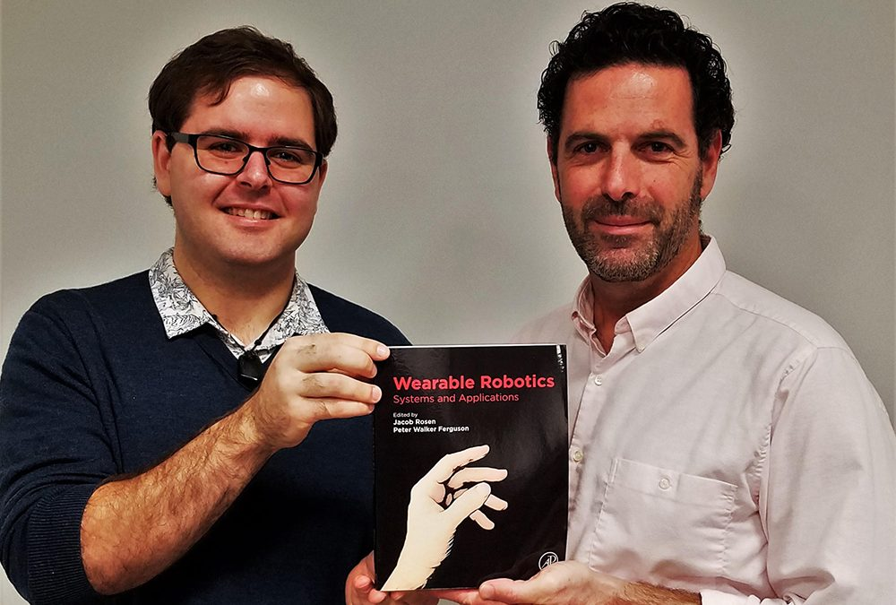 "Peter Ferguson and Jacob Rosen are editors and co-authors of the new book ""Wearable Robotics – Systems and Applications"""
