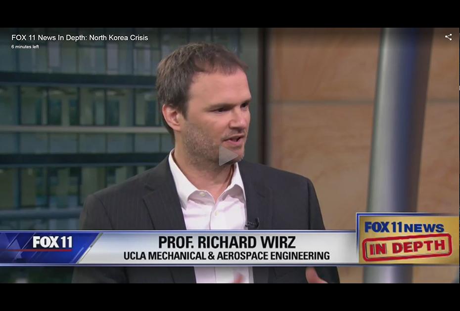 "Richard Wirz interviewed on ""Fox 11 News In Depth"" about N. Korea ICBM capabilities and U.S. interceptor capabilities"