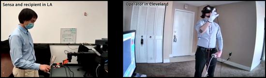 NeuroReality Avatar visit between Cleveland and California (Images courtesy of UCLA Samueli, CWRU)