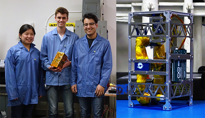 UCLA students touch space with a microgravity experiment