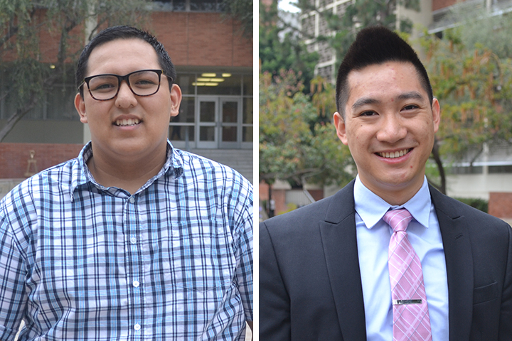 MAE students Caguimbal, Wu are 2016 UCLA Engineering Award winners at commencement