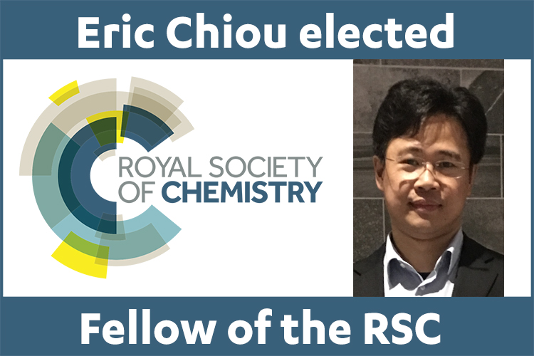 Eric Chiou elected Fellow of the Royal Society of Chemistry