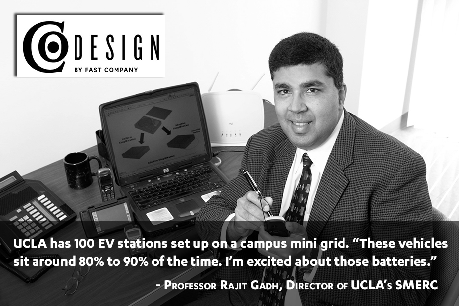 Rajit Gadh:  Sipping on the energy of parked cars (quoted in Fast Co. Design)
