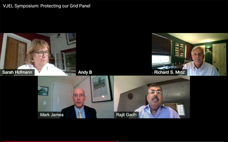 Vermont Journal of Environmental Law Symposium: Protecting our Grid Panel, Oct 19, 2020