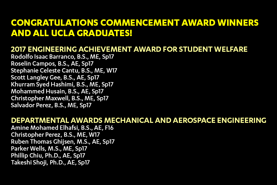 2017 Commencement Awards and Honors Announcement