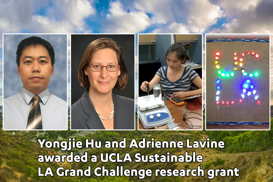 Yongjie Hu and Adrienne Lavine awarded a UCLA Sustainable LA Grand Challenge research grant