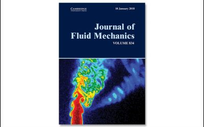 Image taken in the MAE Energy and Propulsion Research Lab chosen for front cover of the Journal of Fluid Mechanics