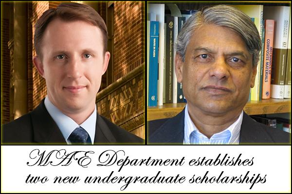 MAE Department establishes two new undergraduate scholarships