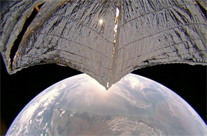 LightSail 2 over India LightSail 2 regularly transmits images from its onboard cameras. These images help engineers track the condition of the sail while providing stunning public outreach images. Image: The Planetary Society.