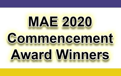 MAE 2020 Commencement Awards Winners
