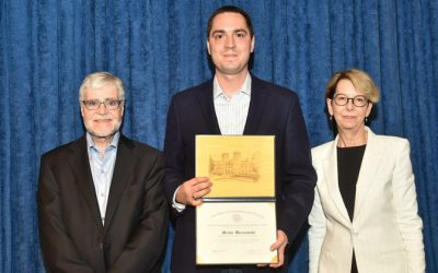 Michal Marszewski receives certificate for the 2017/18 Chancellor's Award for Postdoctoral Research Nominees