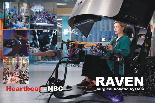 "Jacob Rosen's surgical robotic system ""RAVEN"" featured on NBC medical drama ""Heartbeat"""