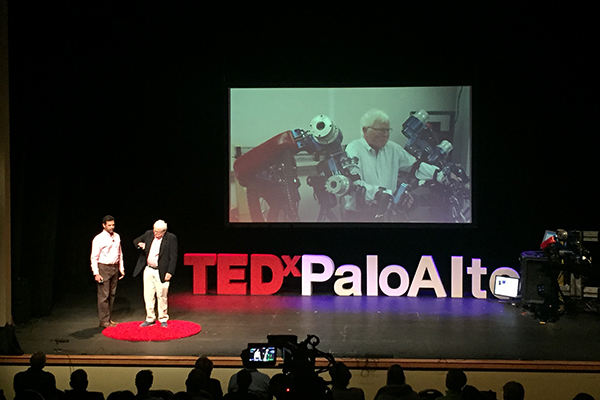 "Jacob Rosen delivers TEDx Talk ""Wear a Robot – Strike Stroke"" at TEDx Palo Alto 2018"