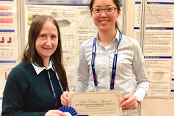 Qianchang Wang, TANMS graduate student, wins Best Poster Award at the Intermag 2018 Conference