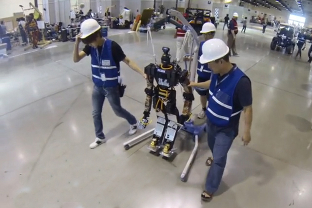 UCLA's humanoid robot flexes its muscles at international competition