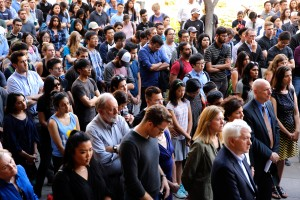 A crowd of roughly 500 gathered at a vigil for UCLA Engineering Professor William Klug on June 3, 2016.